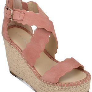 MARC FISHER CALITA SUEDE WEDGES - SIZE 11
